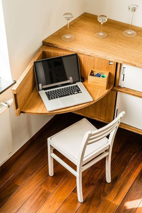 Hidden DIY Corner Desk Ideas