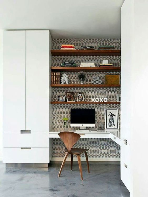 Industrial Floating DIY Corner Desk Ideas