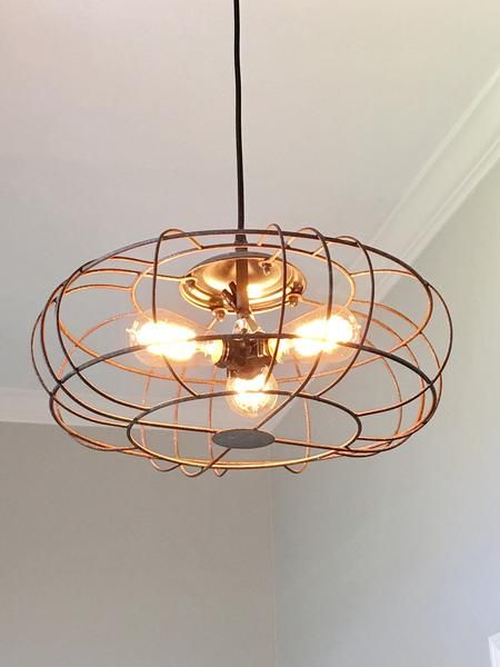 Industrial Metal Fan DIY Light Ideas