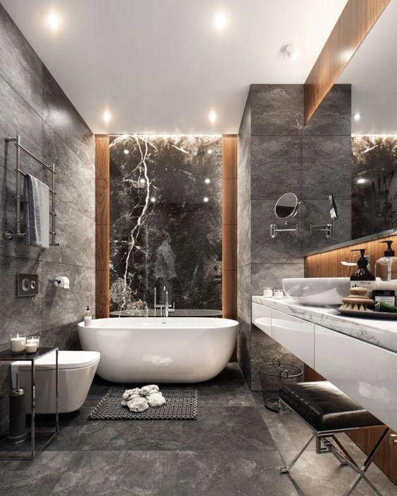 Industrial Style Luxury Bathroom