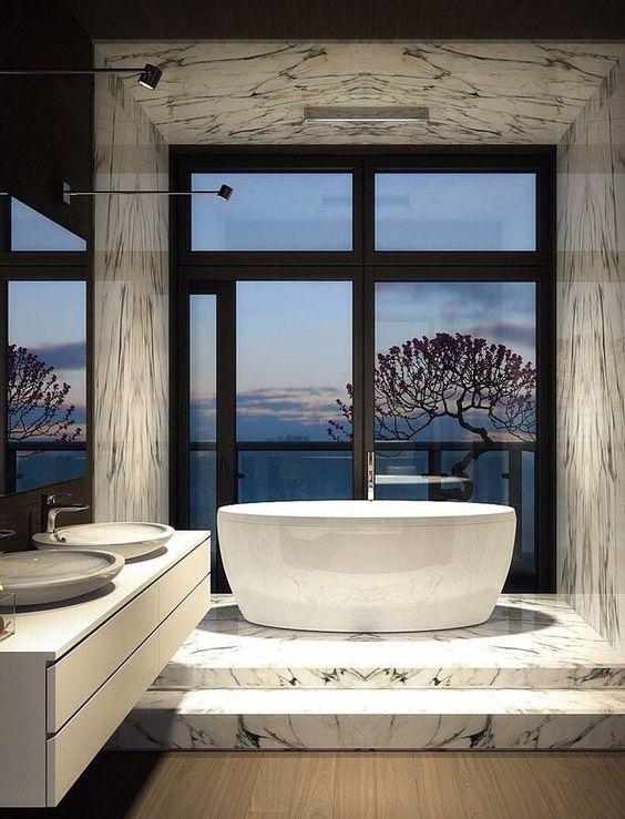 Landscape View Luxury Bathroom
