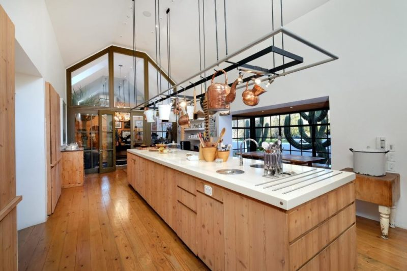 Large Country Kitchen With Pot Rack