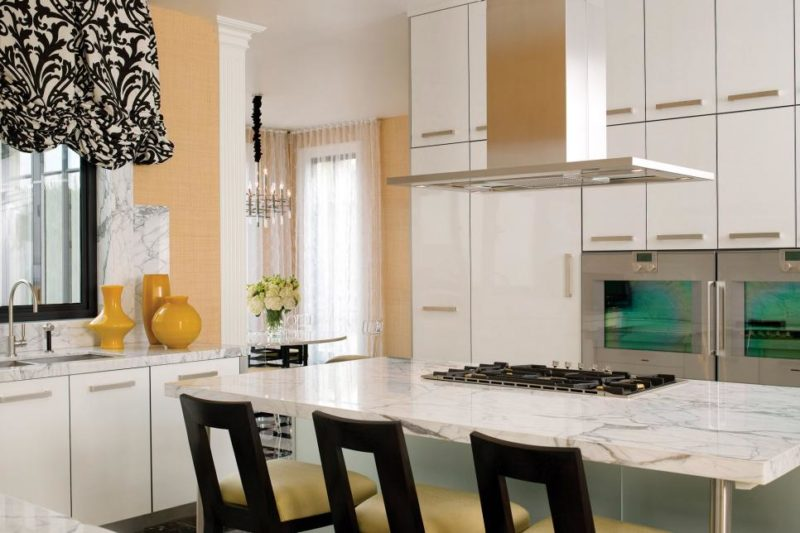 Marble Counter Tops Modern Kitchen Cabinets