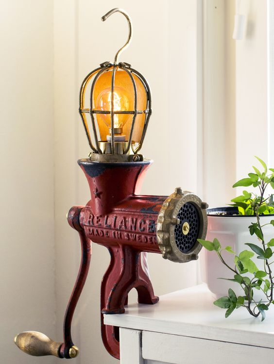 Meat Grinder DIY Light Ideas
