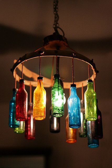 Mix Color Bottle DIY Light Ideas