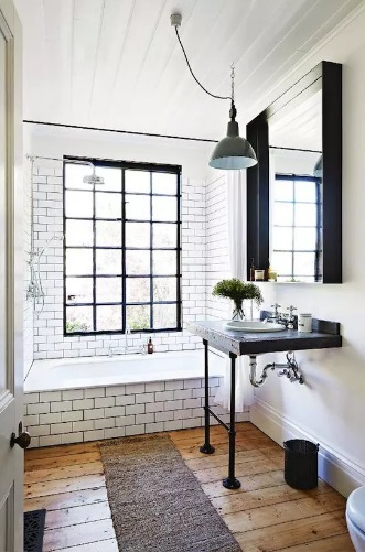 Mixing Farmhouse Bathroom