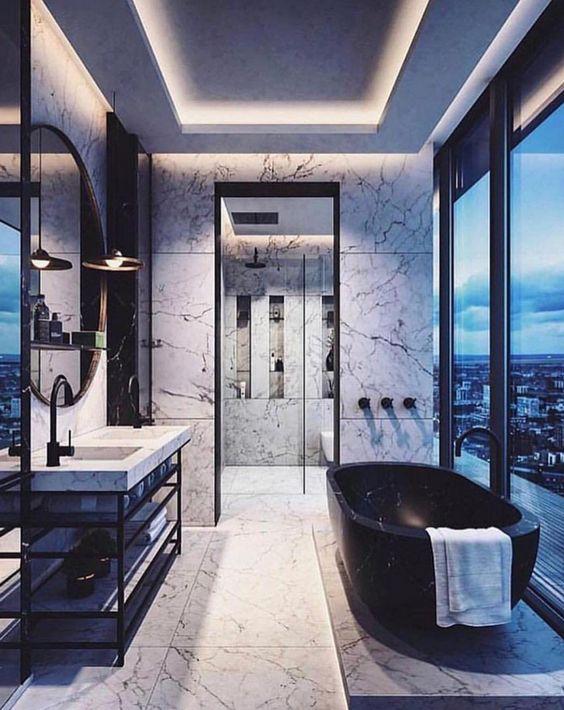 Monochrome Luxury Bathroom