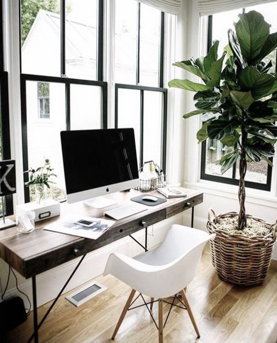 Natural Light Modern Desk Ideas
