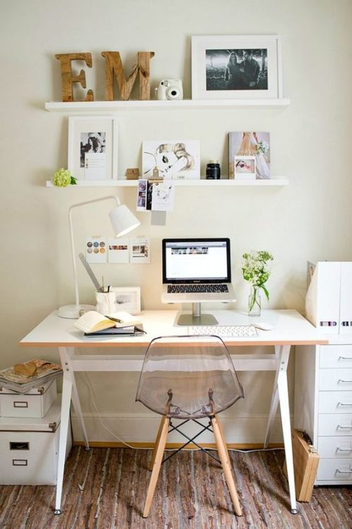 Neutral Modern Desk Ideas