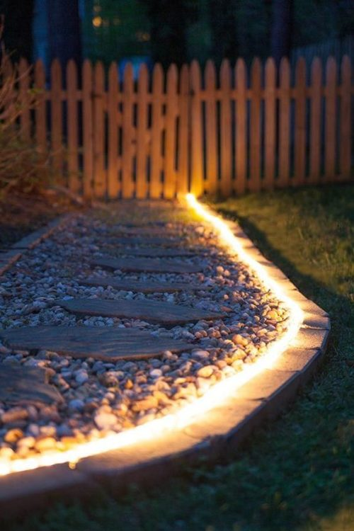 Outdoor Walkway DIY String Light