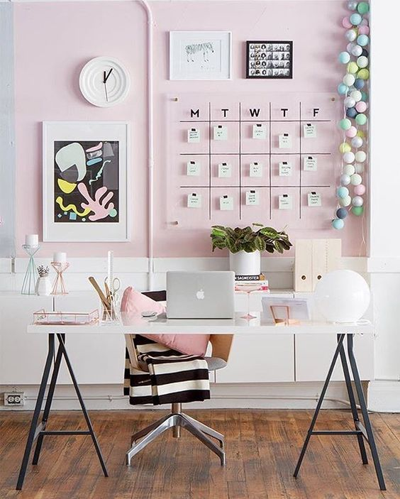 Pink Modern Desk Ideas