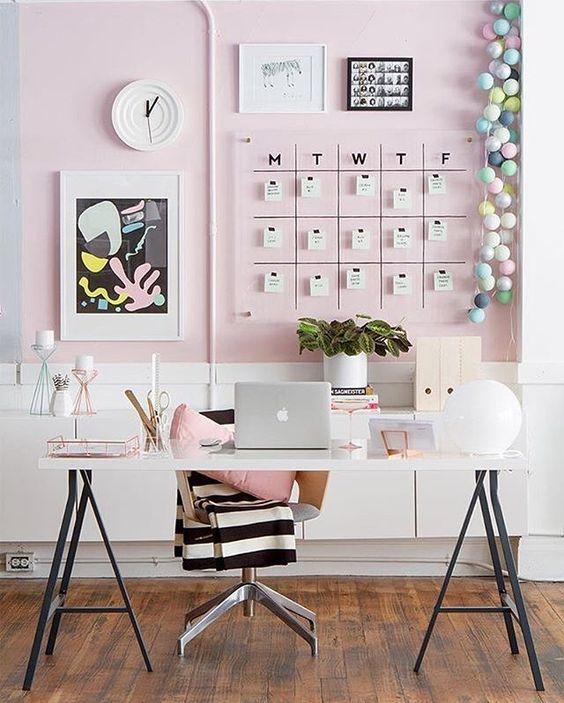 Pink Modern Desk Ideas