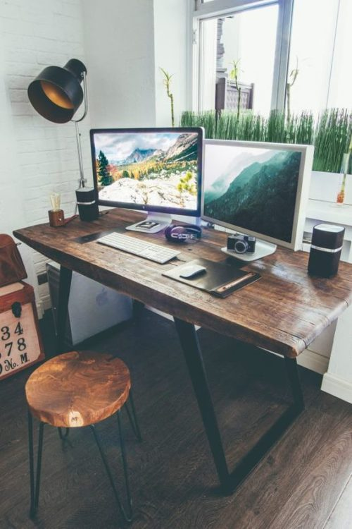Rustic Modern Desk Ideas