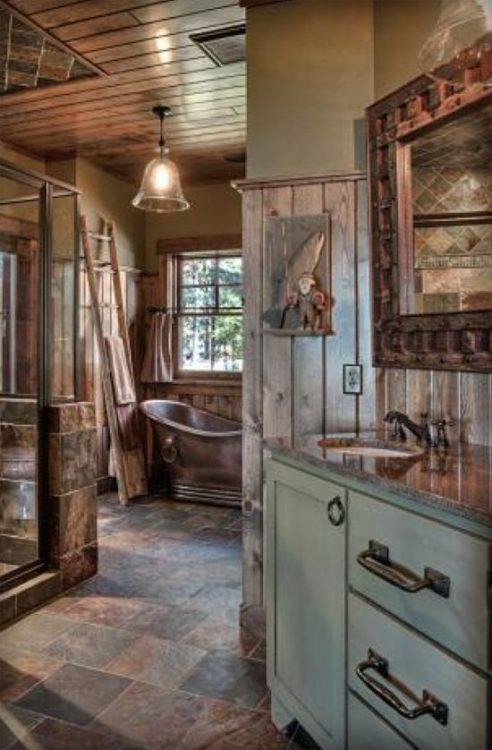 Rustic Style Luxury Bathroom