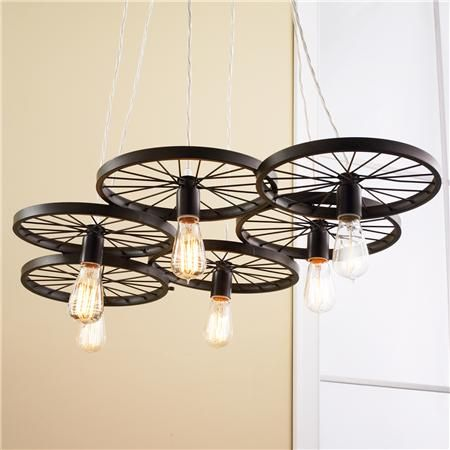 Spoke Wire Wheel DIY Light Ideas