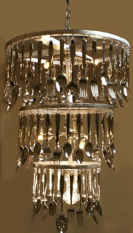 Stainless Steel Spoon and Fork DIY Light Ideas