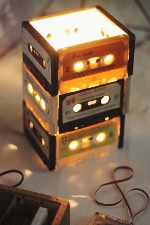 Vintage Tape DIY Light Ideas