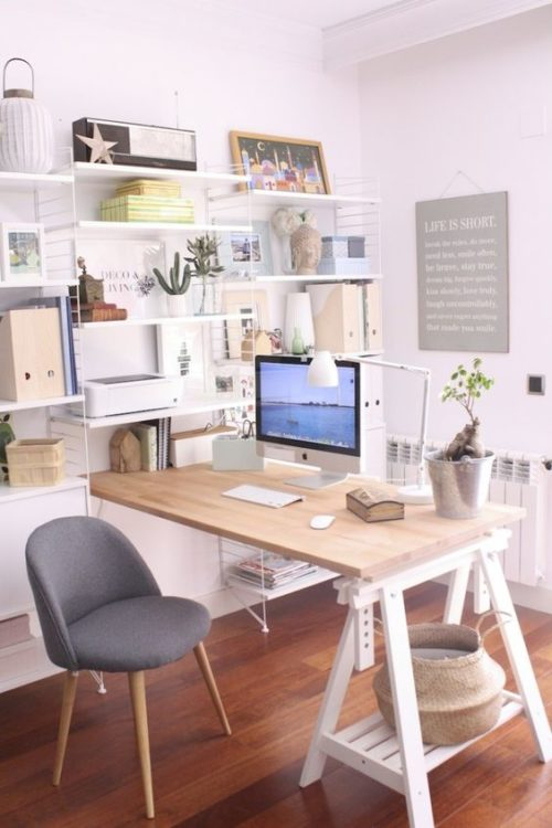 Wall Shelves Modern Desk Ideas