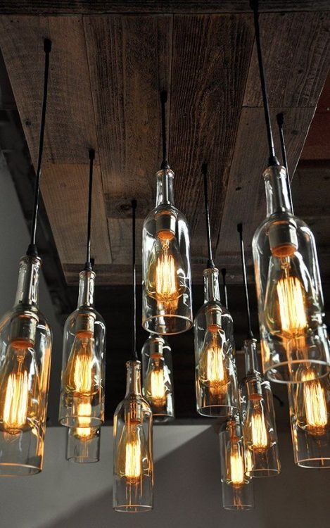 Wine Bottle DIY Light Ideas