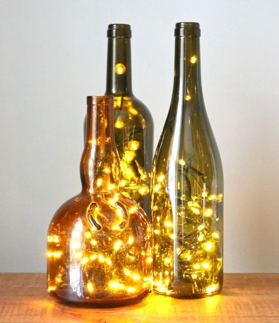 Wine Bottle DIY String Light