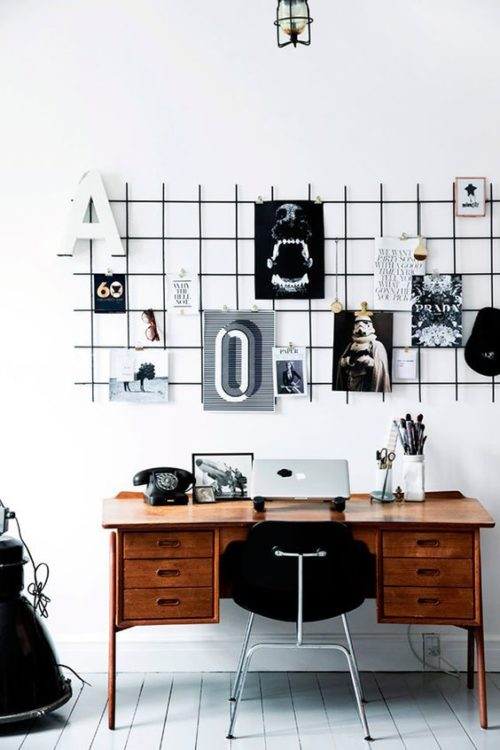 Wire Cork Board Memo Modern Desk Ideas