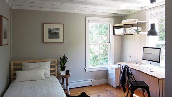 Architecture Unique Bedroom Office Combo