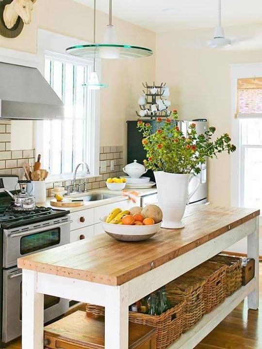 charming cottage kitchen island