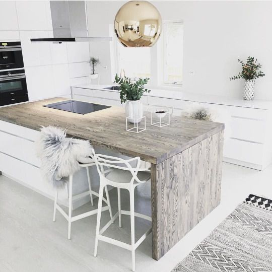 chic apartment kitchen island