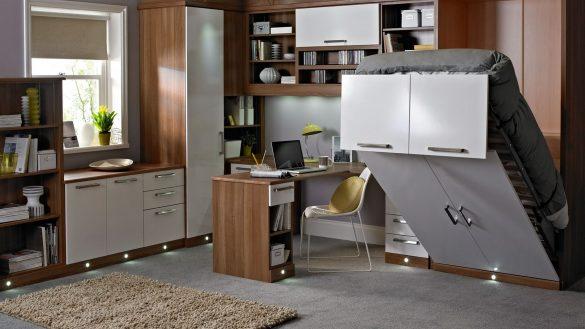 elegant bedroom office combo