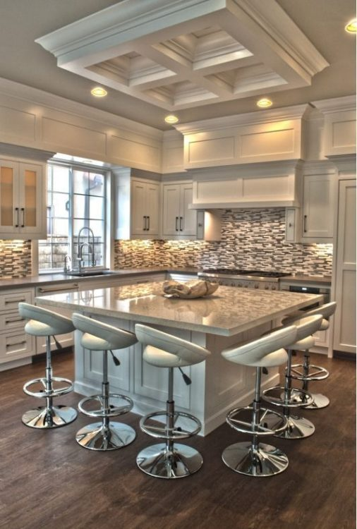 elegant modern kitchen island with square island
