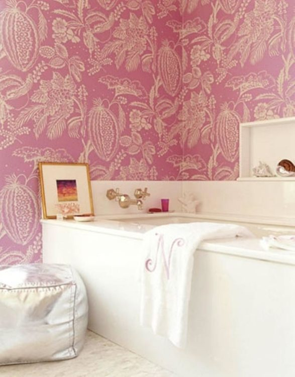 elegant pink bathroom
