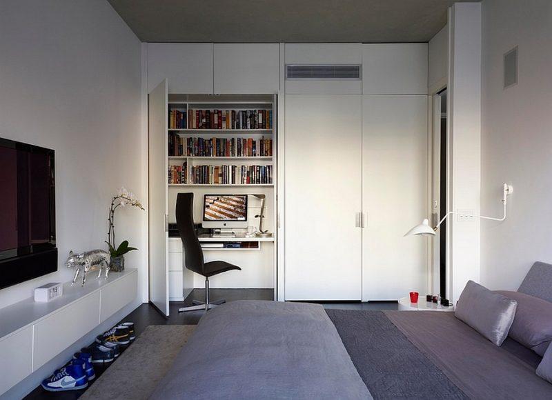Hidden Desk Bedroom Office Combo