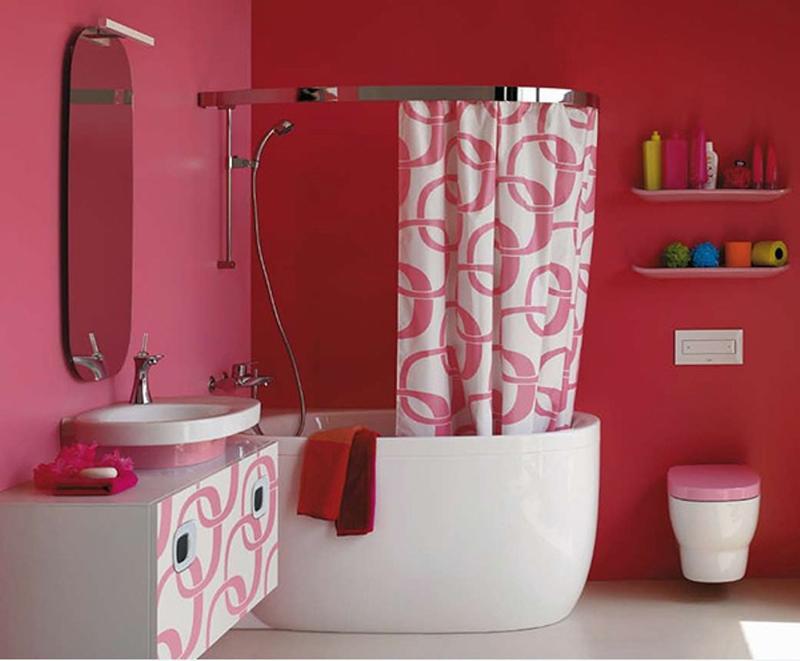 laufen pink bathroom