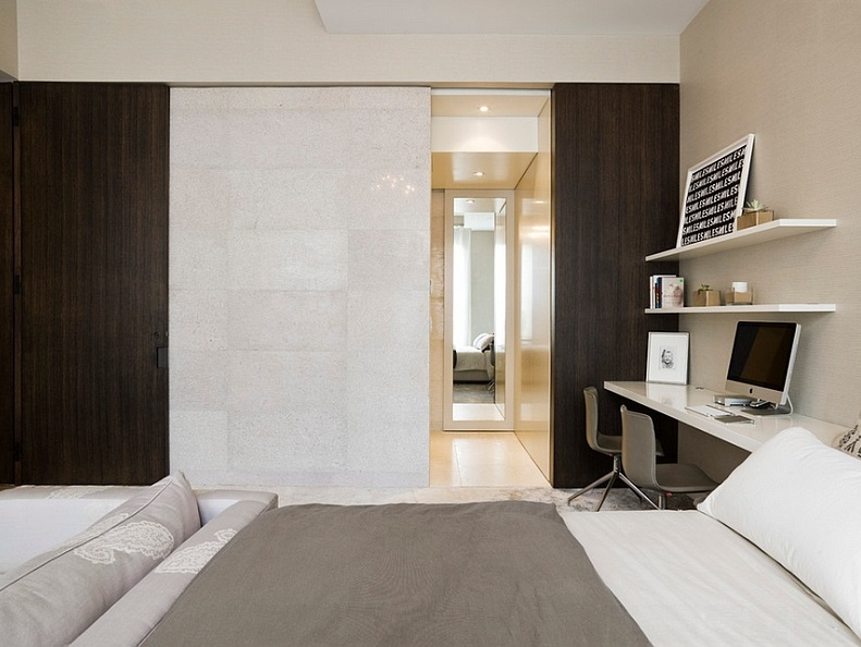 modern bedrooms office combo