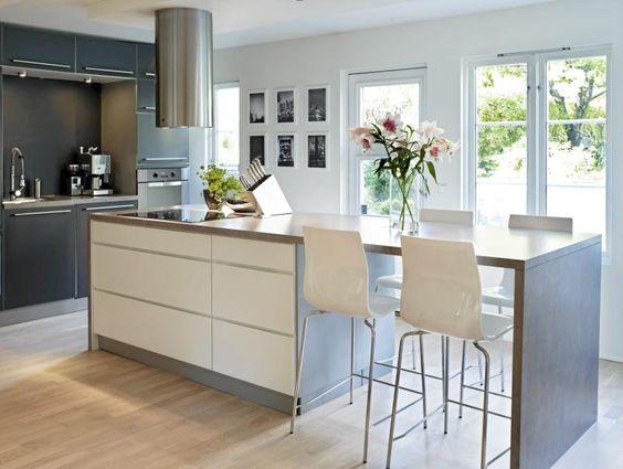 modern minimalist kitchen island