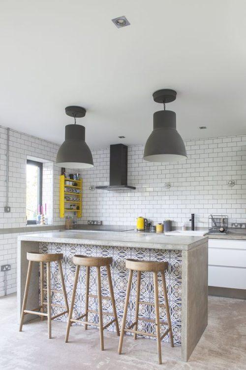 modern moroccan style kitchen island