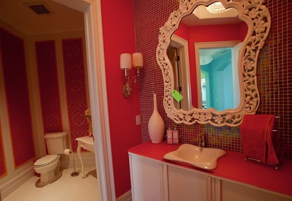 modern pink bathrooms