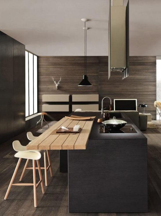 modern rustic and minimalist kitchen island