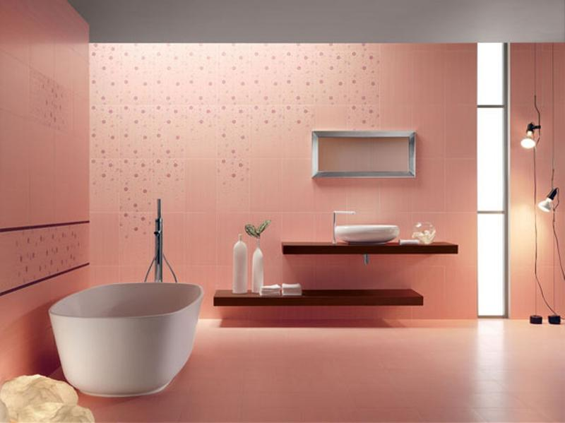 pastel pink bathroom