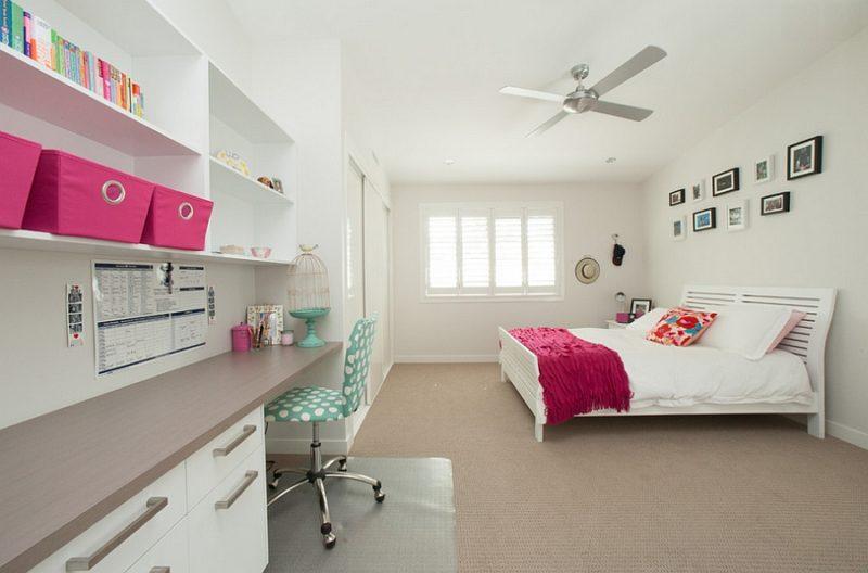 Pops Pink Bedroom Office Combo