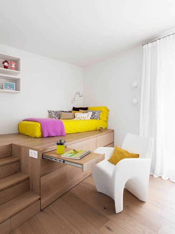 Simple Bedroom Office Combo