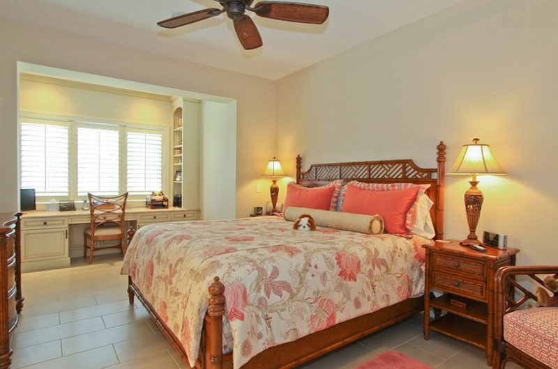 Tropical Bedroom Office Combo