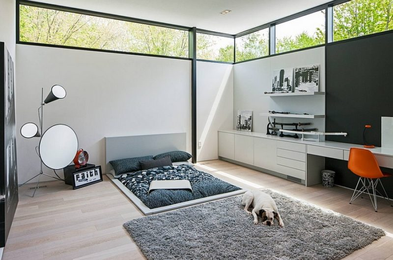 Ultra Modern Bedroom Office Combo
