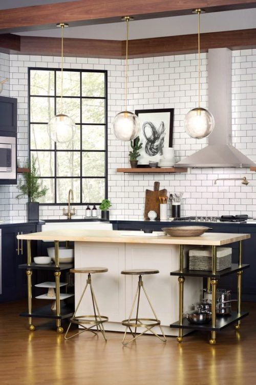 urban apartment kitchen island