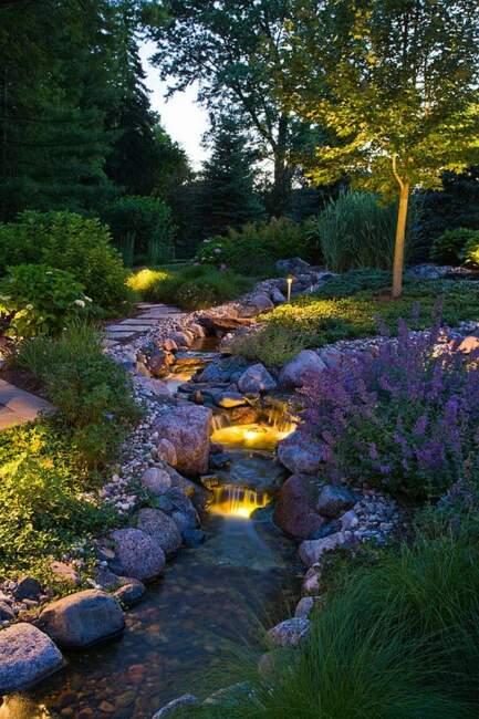 Aesthetic Garden Lanscaping River