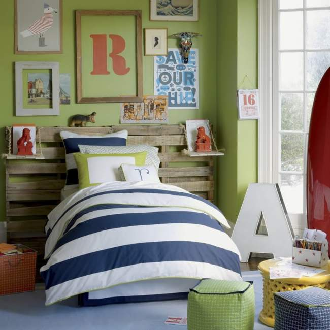 DIY pallet boys bedroom ideas