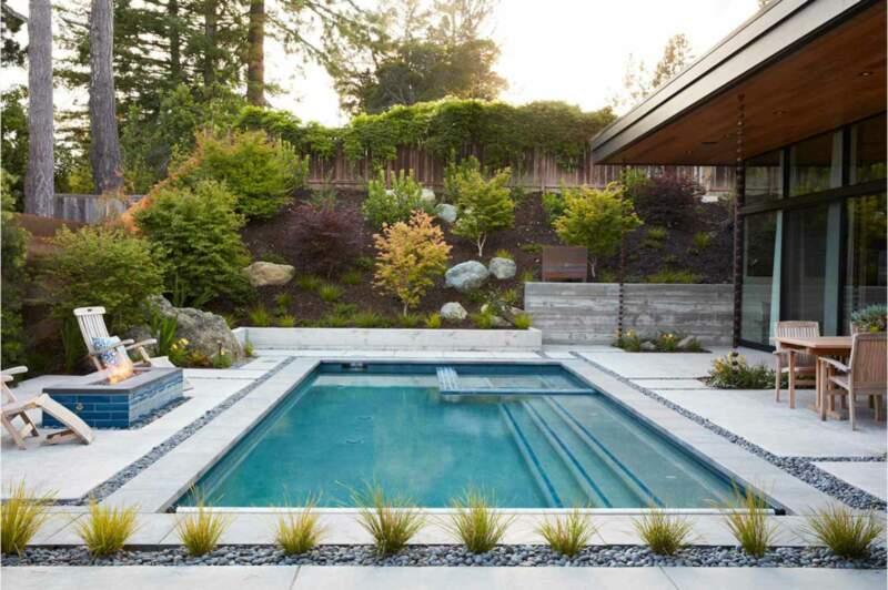 Garden Landscaping Design for Backyard Swimming Pool