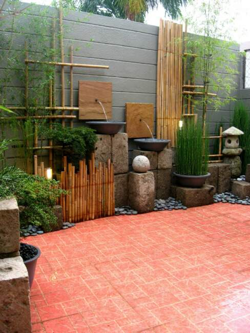 Simple Bamboo Garden Landscape for Small Space
