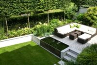 Simple Lawn Garden Landscape with Patio
