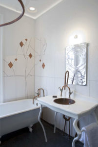 artsy basement bathroom ideas